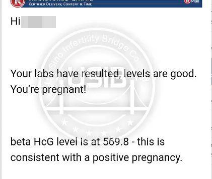 超级幸孕播报  唯一男胚一次移植成功!